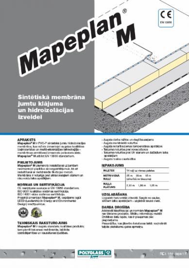 MAPEPLAN PVC-P M (armēta membrāna)
