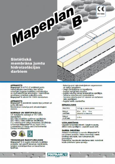 MAPEPLAN PVC-P B (nearmēta membrāna)