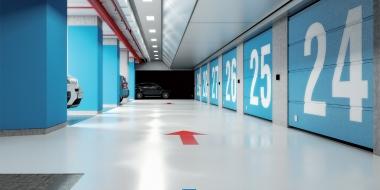 Mapefloor Parking System EP / PD SL S: Daudzslāņu epoksīda pārklājums iekštelpu autostāvvietām
