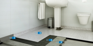 Mapefloor BR System: Epoksīda pārklājuma izveide vannasistabā