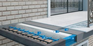 Armēta betona balkona konstrukcijas remonta sistēma