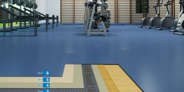 Ātrā sistēma vinila seguma pielīmēšanai uz koka grīdas klājuma