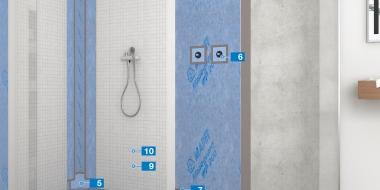 Hidroizolācijas sistēma mitrām telpām ar  Mapeguard WP 200 un tehnisko apstiprinājumu