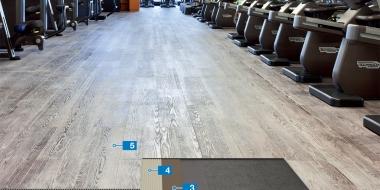 Sistēma LVT seguma izveidei uz augstām noslodzēm pakļautām grīdām