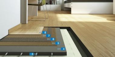 Parketa izveides sistēma uz apsildāmās grīdas
