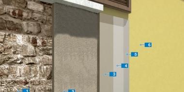Ķieģeļu sienu apmetums un virsmas apstrādes sistēma