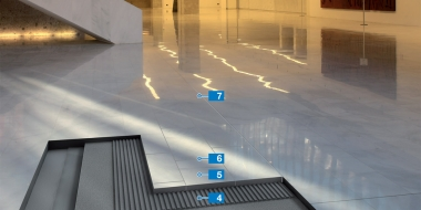 Ātrā sistēma dabīgā akmens un citu flīžu klājumu izveidei sausās telpās