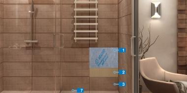 Hidroizolācijas sistēma mitrās telpās, pielietojot MAPEGUARD materiālu un LVT flīžu klājumu