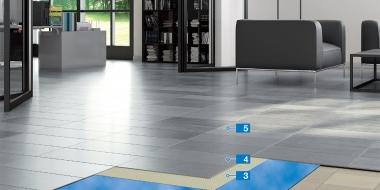 Dizaina pārklājuma un skaņas izolācijas sistēma dzīvojamām telpām