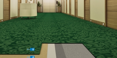 Paklāja seguma izveide uz anhidrīta pamatnes