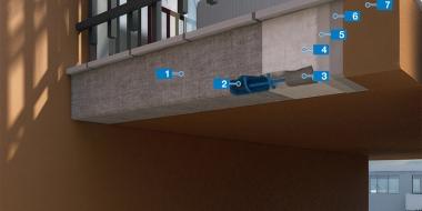 Balkonu apmaļu remonta sistēma