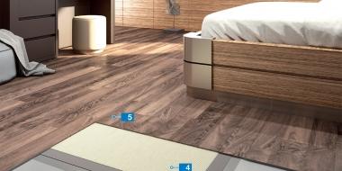 LVT/dizaina grīdas klājuma izveide